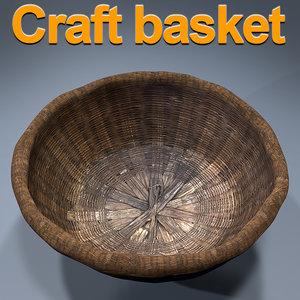 3D basket palm model