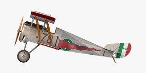 hanriot hd 1 fighter aircraft 3D model