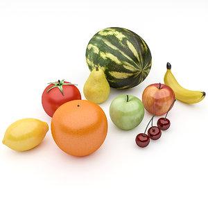 3D model fruit pack
