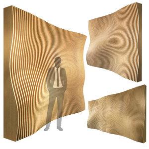 3D parametric wall 003 model