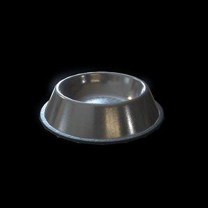 3D model pet food bowl