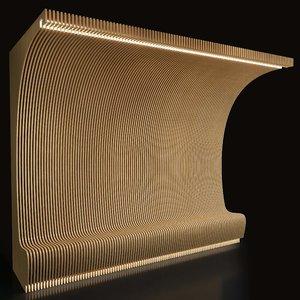 parametric wall 002 3D model