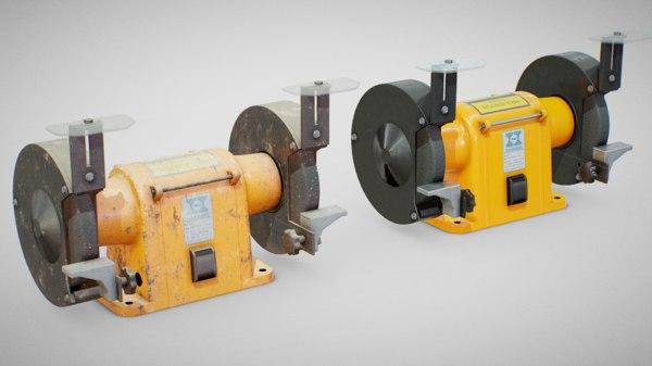 3D model hanning bench grinder -