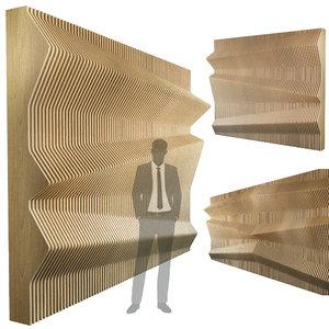 parametric wall 012 3D model