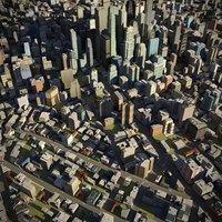 town city cityscape 3D model