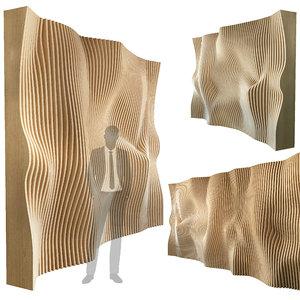 3D parametric wall 010 model