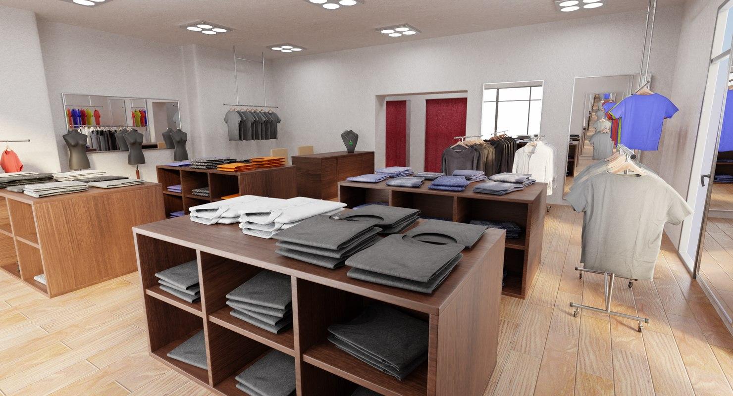 clothes shop model