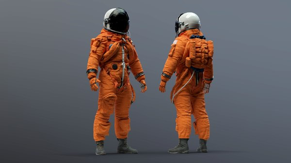 3D model crew suit space shuttle
