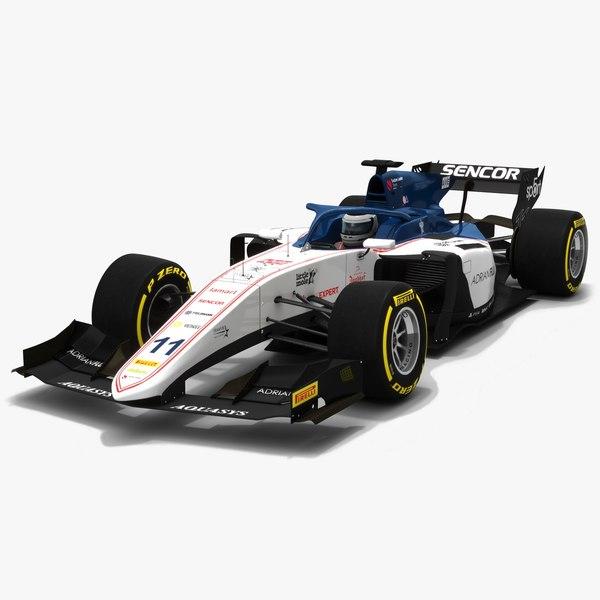 3D sauber 11 f2 race car model