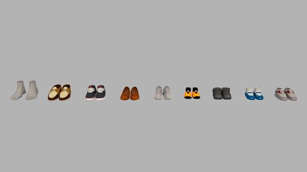 shoes collect 3D model