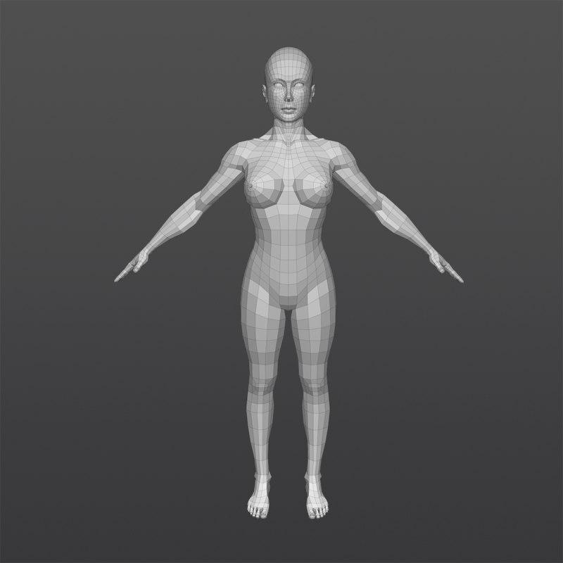 3D female body model
