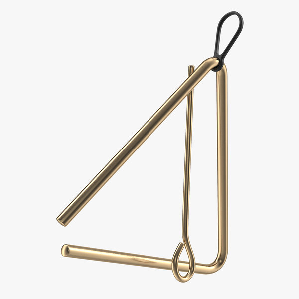 3D bronze musical triangle