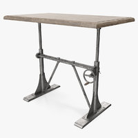 pittsburgh crank sit-stand desk furniture 3D model