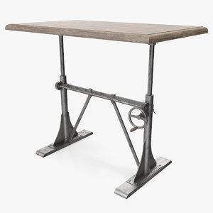 pittsburgh crank sit-stand desk furniture 3D model