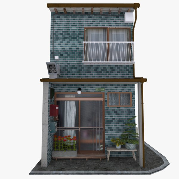 3D old townhouse