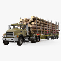 3D truck logging trailer