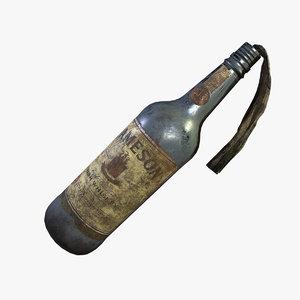 molotov cocktail pbr 3D model