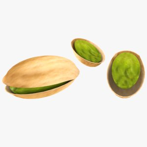 3D model pistachio games fruit