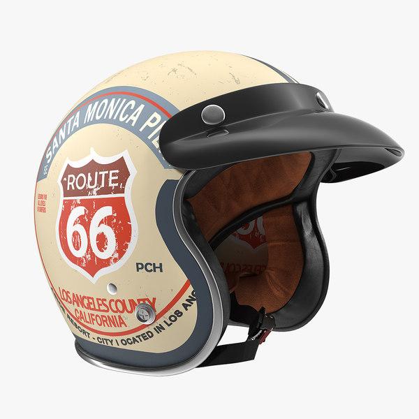 3D torc route 66 helmet model