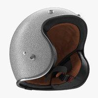 3D model vintage motorcycle helmet generic