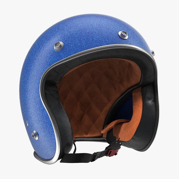 3D vintage motorcycle helmet moto
