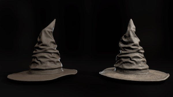 3D leather witch hat 2