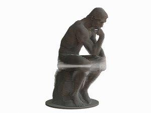 parametric statue rodin 3D model