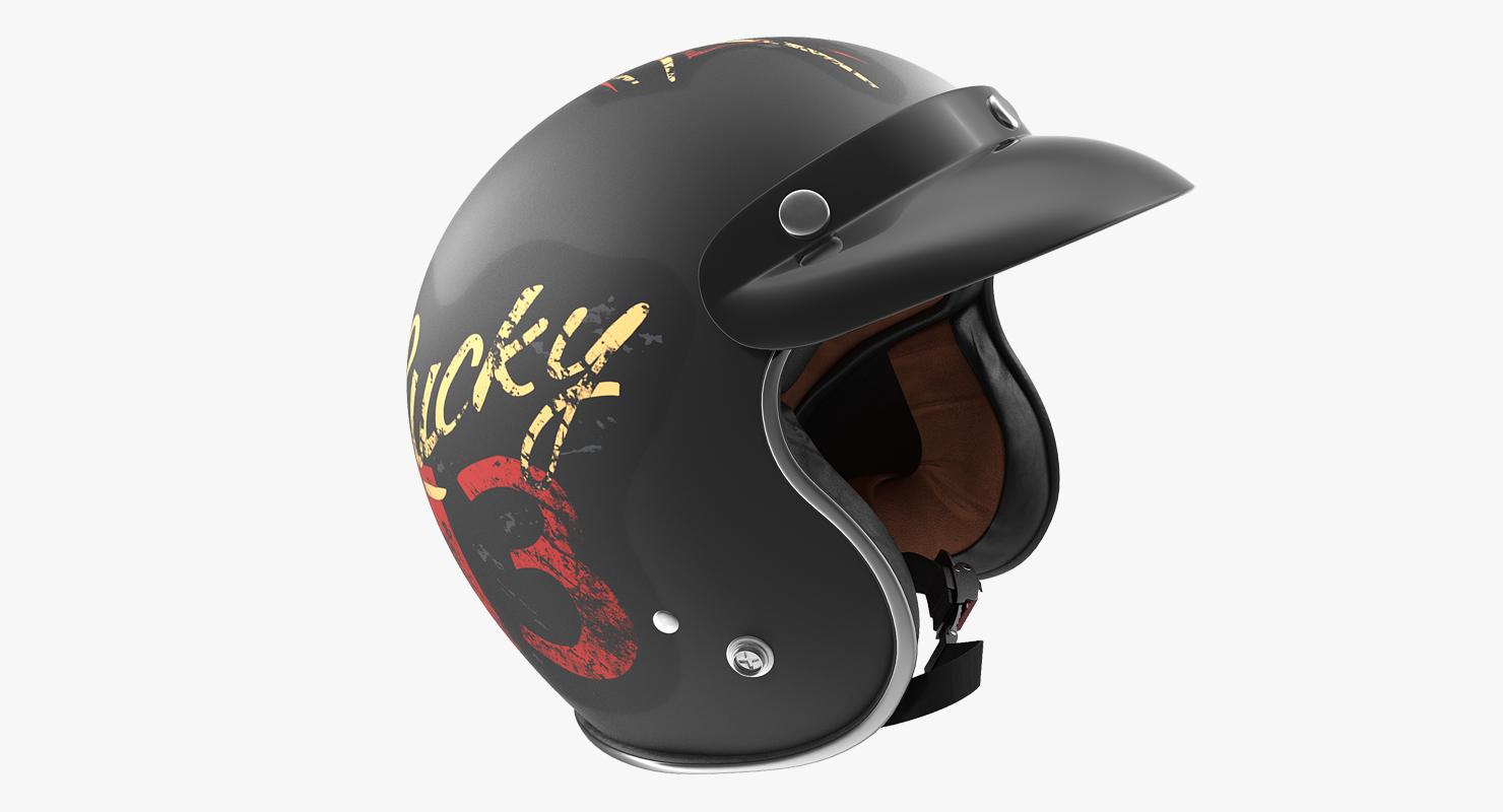 Casque Moto Vintage Lucky 13
