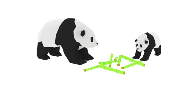 3D pandas