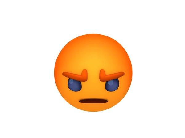 3D facebook angry reaction button