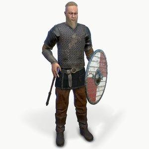 viking low-poly 3D