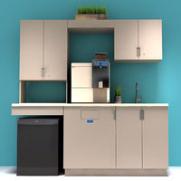 office kitchen cabinets 3D model