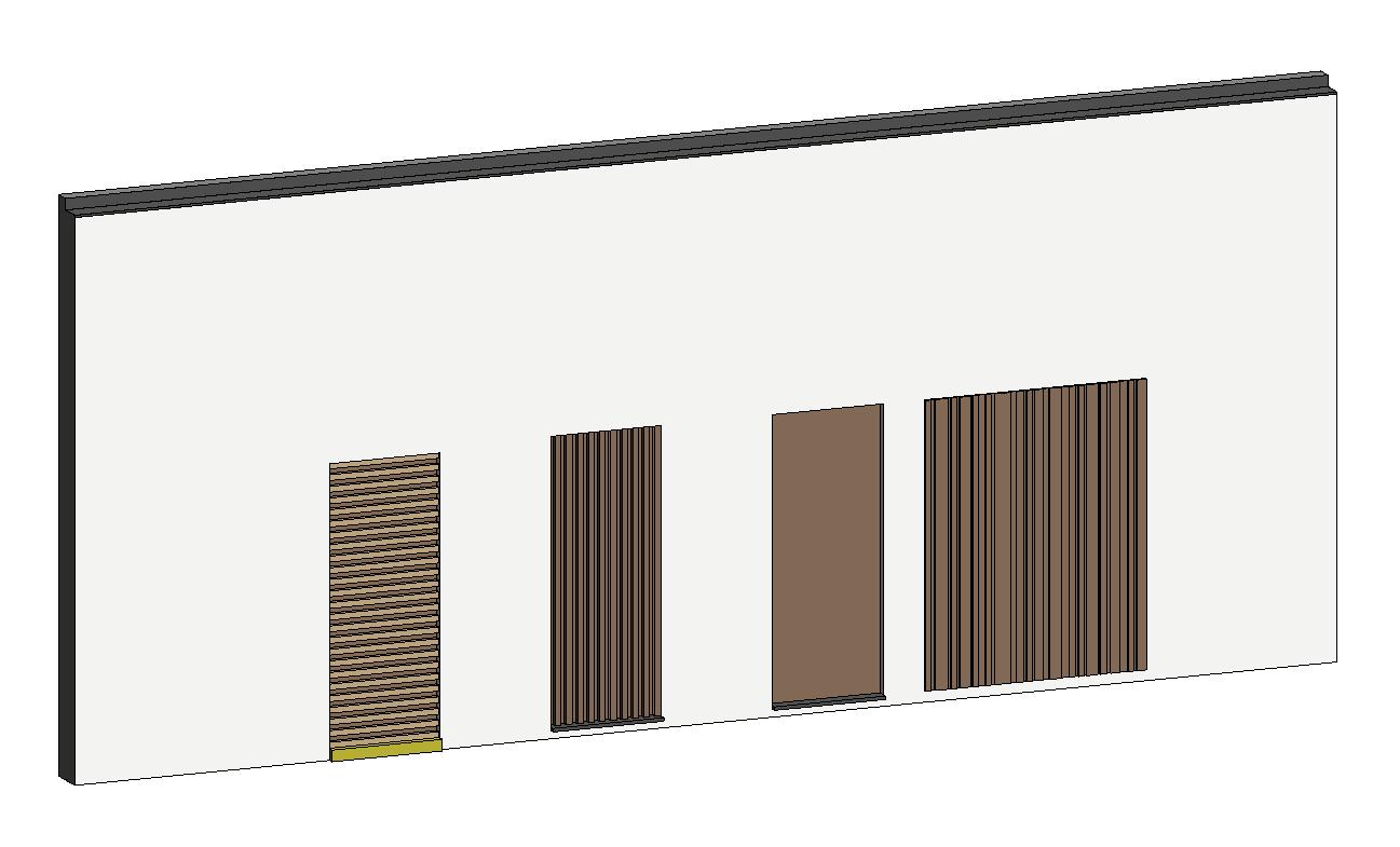 facade panels lamellas - 3D model