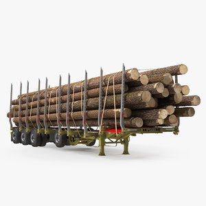 logging trailer 3D model