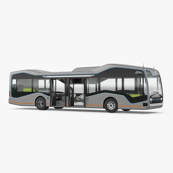 3D mercedes future bus city model