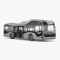 3D model mercedes future bus rigged