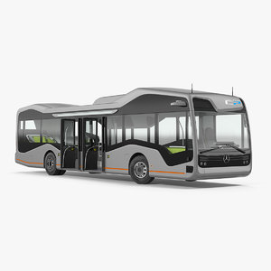 3D model mercedes future bus rigged