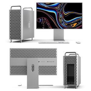 mac pro 2019 display 3D model
