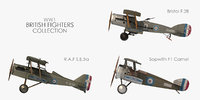 world war british fighter 3D model