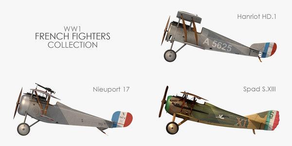3D world war 1 french model