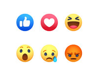 facebook reaction button pack model
