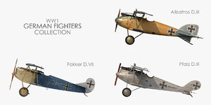 3D world war german fighter model
