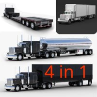 Collection of Semi Trucks 4 in 1