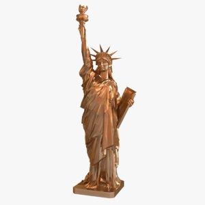 bronze statue liberty 1 3D model