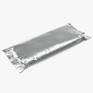 3D big foil chocolate bar model