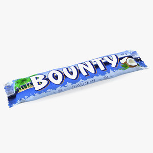 bounty chocolate bar 3D model