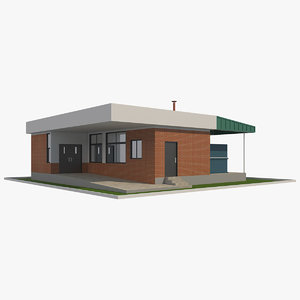 waste recycling building 3D model