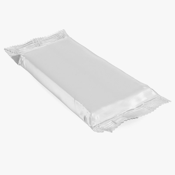white paper wide chocolate bar 3D