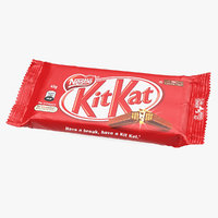 kitkat chocolate bar 3D model