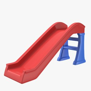 kids slide indoors outdoors 3D